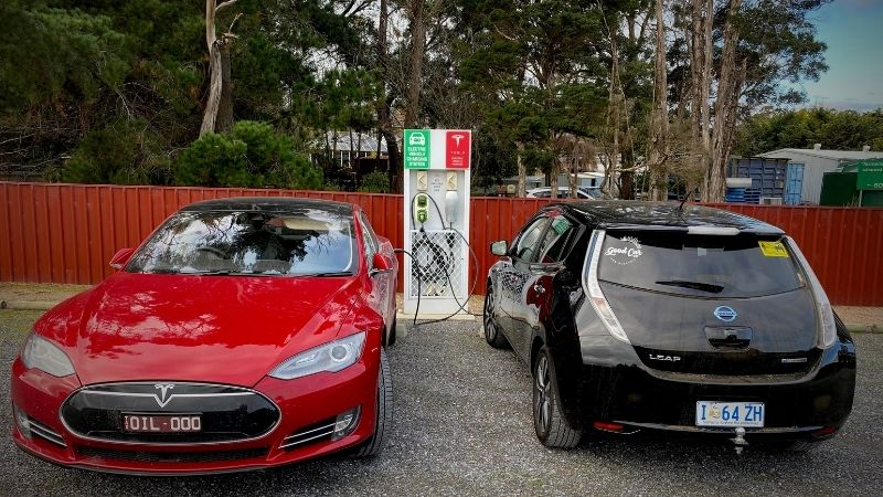 Tesla has a network of chargers across Australia.