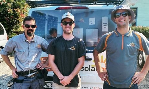 Three electricians