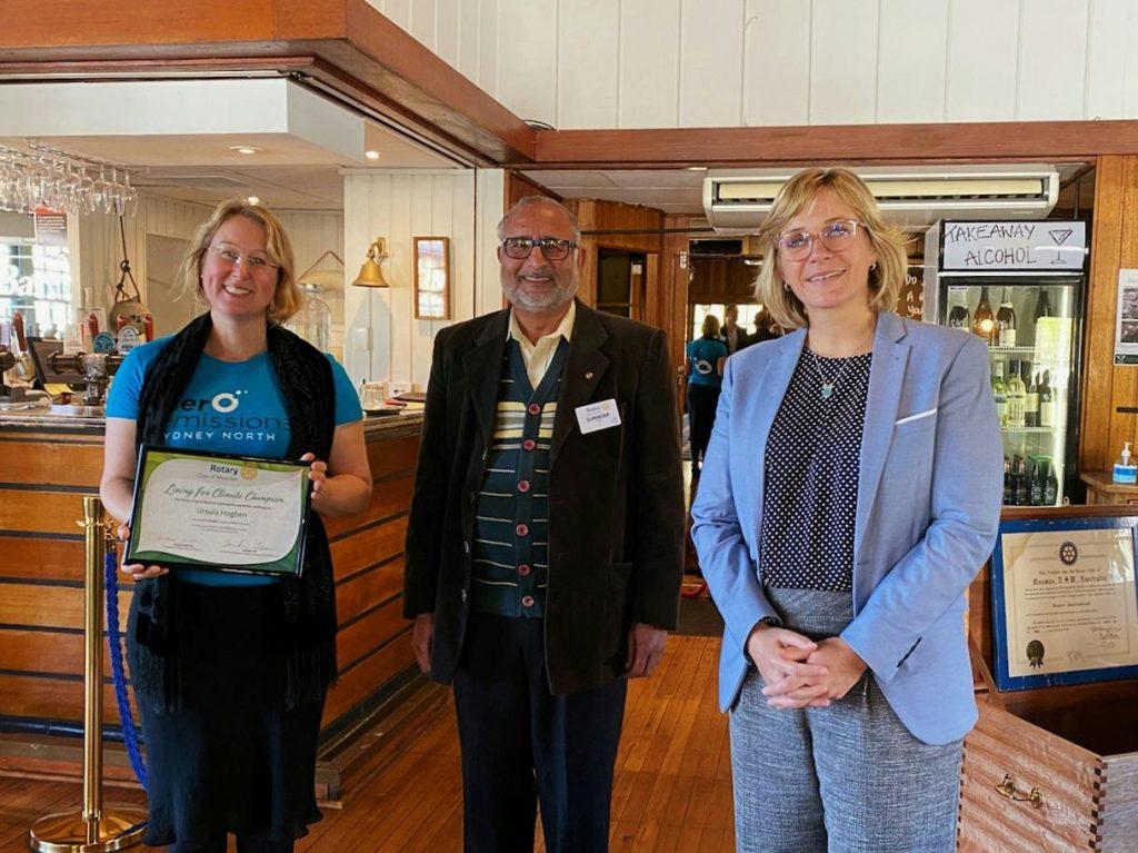 Mosman Rotary Club Living for Climate Zali Steggall